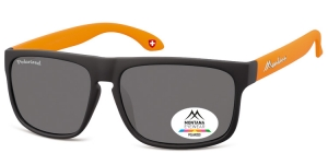 MP37D;; Schwarz + orange  Polarized - Rubbertouch - Soft Pouch Included ;58;15;140
