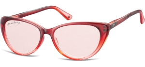 MS43;; Rot verlaufend + rot gläser  Fashion Sunglasses - Cat. 1 - Soft Pouch Included ;52;16;142