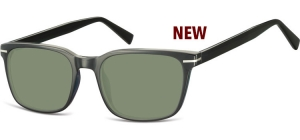 SG-CP119;; Schwarz + G15 Gläser  Injected CP Sunglasses - Optical Quality - UV400 - CAT 3. - Soft Pouch Included ;53;19;140