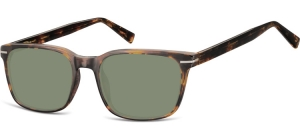SG-CP119C;; Transparent havanna + G15 Gläser  Injected CP Sunglasses - Optical Quality - UV400 - CAT 3. - Soft Pouch Included ;53;19;140