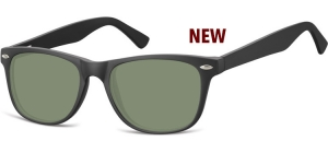 SG-CP134;; Schwarz + G15 Gläser  Injected CP Sunglasses - Optical Quality - UV400 - CAT 3. - Matt finishing - Soft Pouch Included ;53;19;147