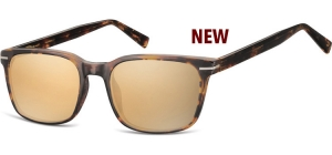 SRG-CP119C;; Transparent havanna + Revo gold Gläser  Injected CP Sunglasses - Optical Quality - UV400 - CAT 3. - Soft Pouch Included ;53;19;140