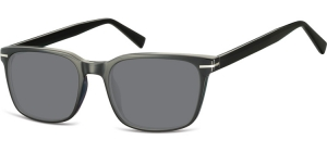 SS-CP119;;Schwarz + Rauchiges GlasInjected CP Sunglasses - Optical Quality - UV400 - CAT 3. - Soft Pouch Included;53;19;140