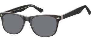 SS-CP134A;;Schwarz + transparent + Rauchiges GlasInjected CP Sunglasses - Optical Quality - UV400 - CAT 3. - Matt finishing - Soft Pouch Included;53;19;147